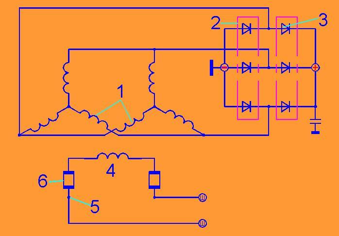Принципиальная схема генератора 1601.3701