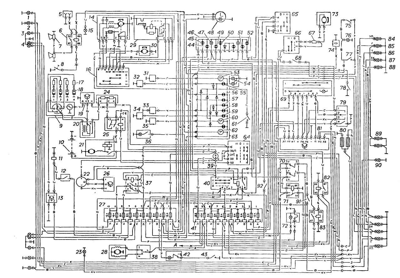 Схемы электрооборудования автомобиля ГАЗ ...