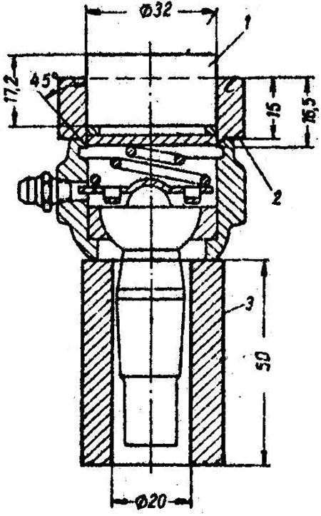 Чертеж приспособления для сборки рулевых наконечников ГАЗ-21
